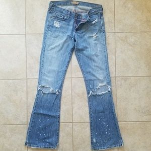 Abercrombie & Fitch Distressed Flare Jeans Great
